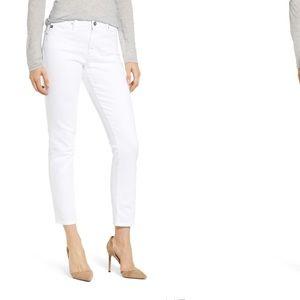 AG The Prima Mid Rise White Cigarette Jeans